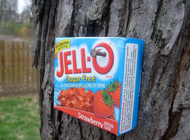 jello box on tree