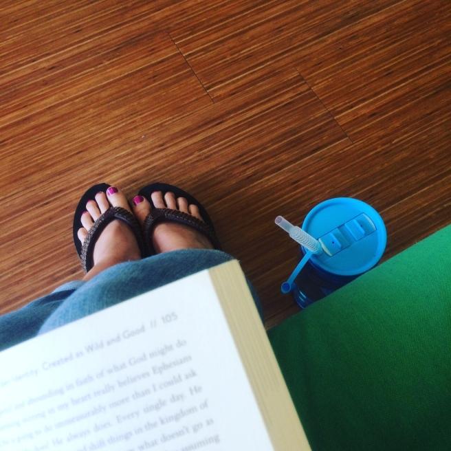 waiting room feet pic